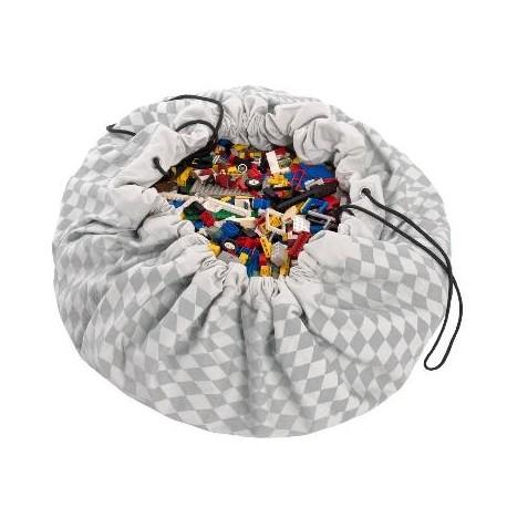 Medžiaginis kilimėlis-krepšys (pilkas)