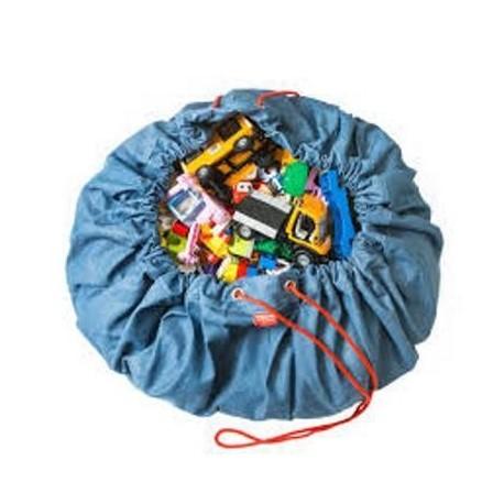 Medžiaginis kilimėlis-krepšys (mėlynas)
