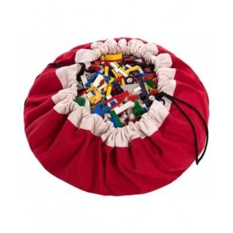 Medžiaginis kilimėlis-krepšys (raudonas)
