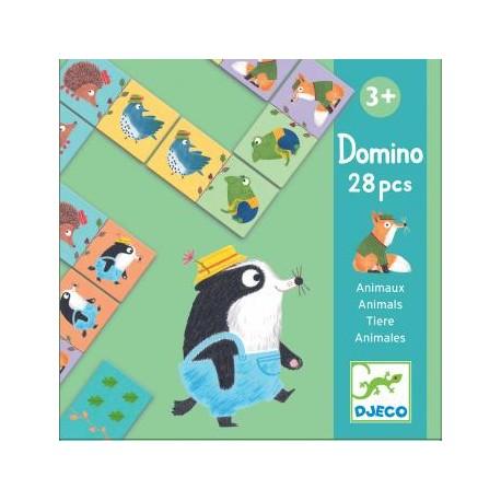 Vaikiškas domino žaidimas - gyvūnai