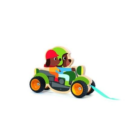 Traukiamas žaisliukas - motociklas
